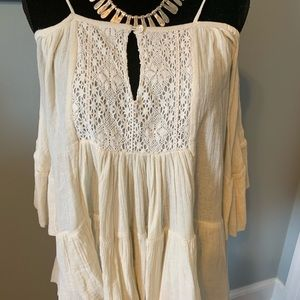 BOSTON PROPLE OFF THE SHOULDER BLOUSE